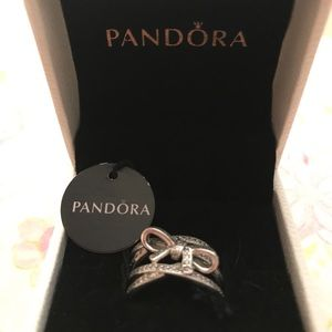 "NWT Pandora ""Delicate Sentiments"" Ring, size 6"